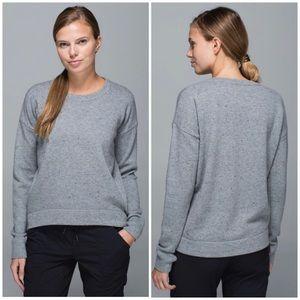 Lululemon Yogi Crew Sweater Heathered Medium Grey